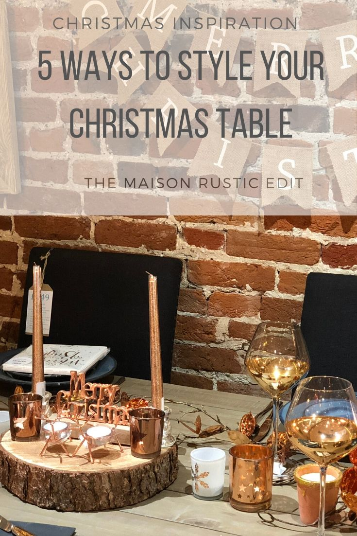 5 Ways To Style Your Christmas Table