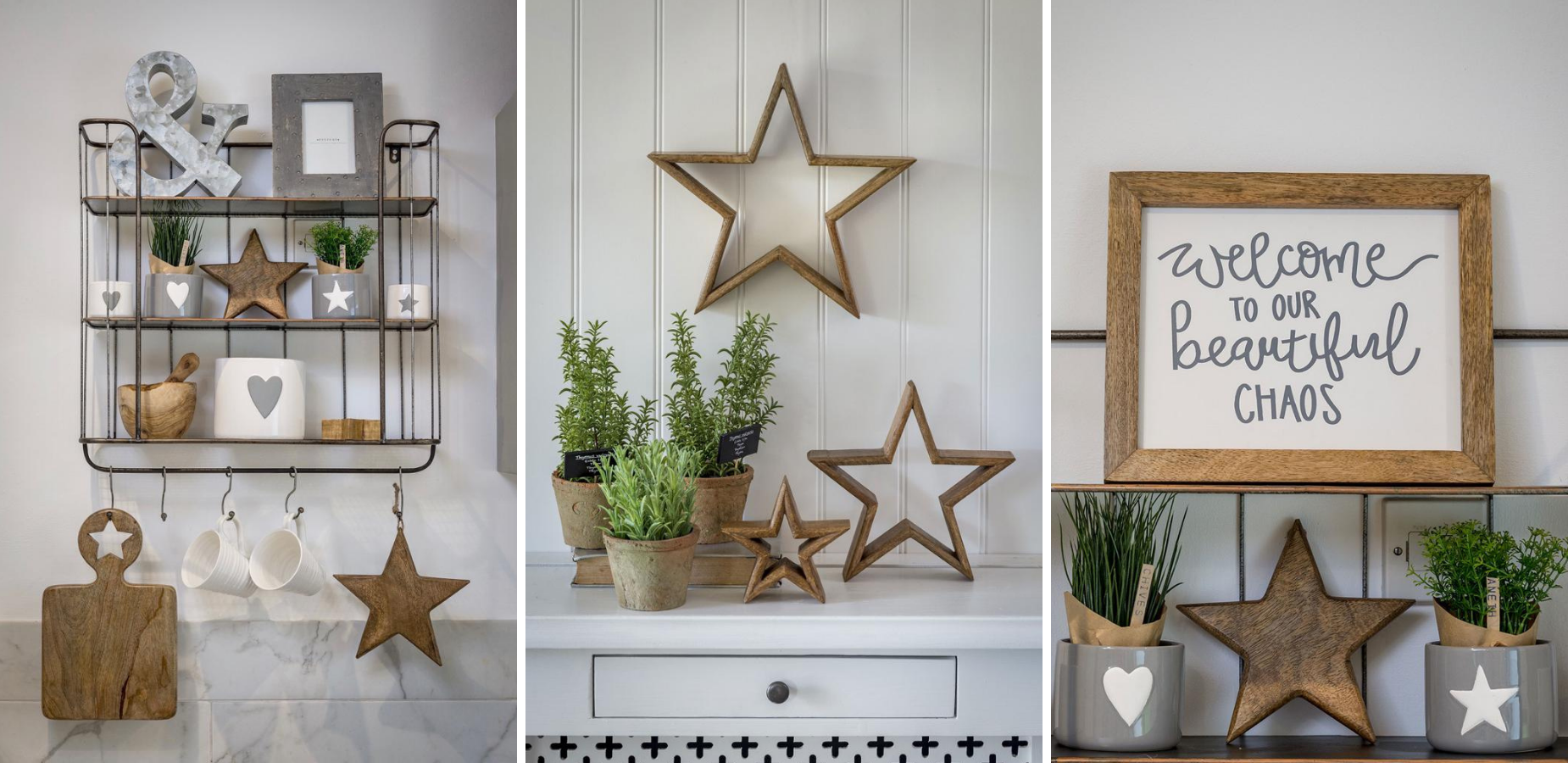Modern rustic accessories from the home
