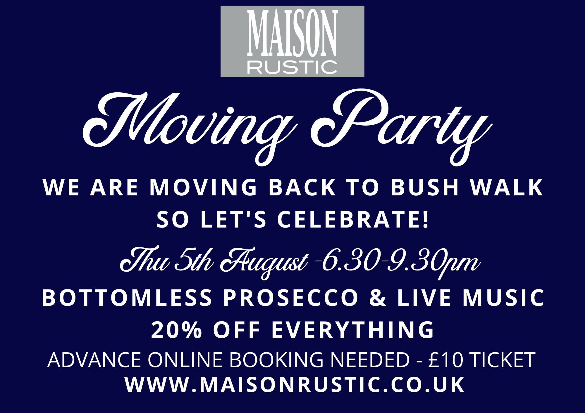 Moving party flyer